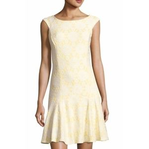 NWT Nanette Lepore Yellow & White Lace Dress